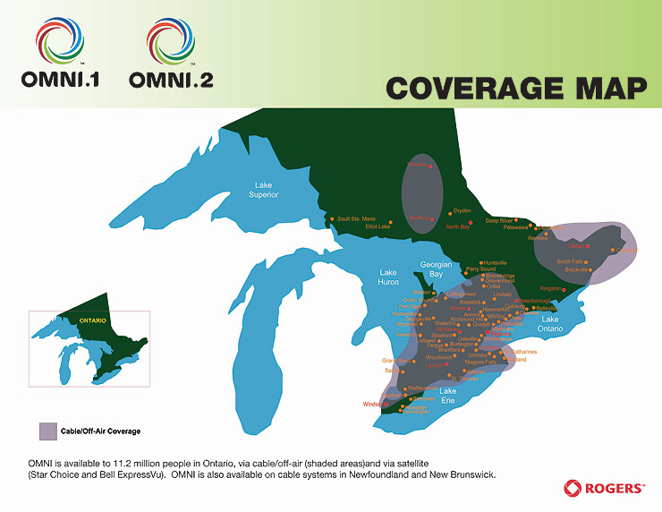 OMNI Coverage Map Rogers Media TV Access - Rogers us coverage map
